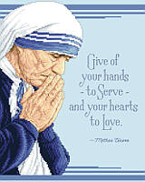 Mother Teresa, Angel of Mercy 1910- 1997. One of the greatest saints of out time.