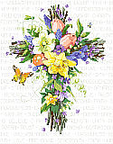 Spring Floral Cross - PDF: An enduring symbol of inspiration filled with the freshest blooms of spring!
