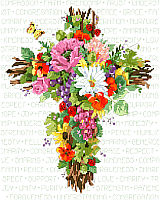SUMMER CROSS AS BEAUTIFUL AS THOSE SUMMER FLOWERS OUTSIDE YOUR DOOR.