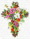 Summer Floral Cross - PDF: SUMMER CROSS AS BEAUTIFUL AS THOSE SUMMER FLOWERS OUTSIDE YOUR DOOR.