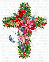 Winter Floral Cross is as beautiful as those Holiday flowers in & outside your door.