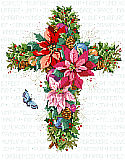 Winter Floral Cross - PDF