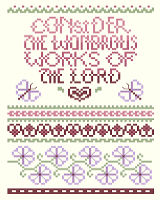 Consider the Wondrous Works is one of our classic scriptures of thanksgiving by designer Linda Gillum.