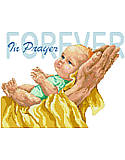 In Prayer Forever - PDF: Inspirational and Provocative! A beautiful rendering of baby and parent inspiring all to pray without ceasing.