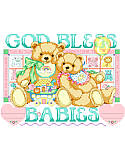 God Bless Babies Birth Record - PDF: News this big should be beautiful! Celebrate the arrival of your little bundle of joy with this adorable Birth Announcement!