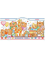 Show your baby bear just how much you care with the cheerful, personalized wall art that is sure to brighten the nursery.