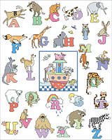 Noah's Ark ABC's is a cute accent for any nursery or kid's play room, hang in a church nursery or kid's classroom.