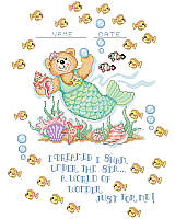 Add a whimsical mermaid bear with an under-the-sea theme to wow to any kid's room!