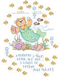 Merbaby Birth Announcement - PDF: Add a whimsical mermaid bear with an under-the-sea theme to wow to any kid's room!