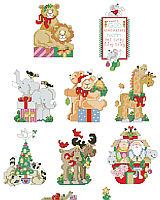 Welcome a new baby with this cheerful and lively collection of Noah's Ark theme ornaments full of adorable and unusual animals such as moose, alligators and skunk. This collection of 10 detailed and charming ornaments will liven up any tree.