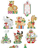 Noah's Friends Ornaments - PDF: Welcome a new baby with this cheerful and lively collection of Noah's Ark theme ornaments full of adorable and unusual animals such as moose, alligators and skunk. This collection of 10 detailed and charming ornaments will liven up any tree.
