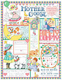 Mother Goose Birth Record - PDF: Nursery rhymes galore are depicted in this sweet and detailed Mother Goose Birth Record by designer Linda Gillum.