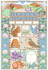 Take a stroll down the whimsical side of nature with this charming sampler.