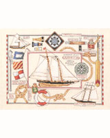 Add this nautical piece to your wall décor at your cabin or seaside home.