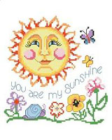 A brightly colored smiling sun greets you