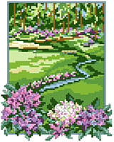 Take a swing at this design for cross-stitch and make a hole-in-one. 
