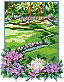 Golf Course - PDF: Take a swing at this design for cross-stitch and make a hole-in-one. 