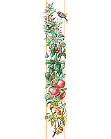 The unique beauty found in each of the Four Seasons captured in this Counted Cross Stitch bell pull design.