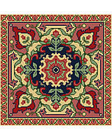 With fabulous exotic design and stunning contrasting shades. This classic Persian tapestry is perfect for bohemian room décor, and this piece will make a bold statement in any room!