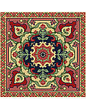 Persian Tapestry - PDF: With fabulous exotic design and stunning contrasting shades. This classic Persian tapestry is perfect for bohemian room décor, and this piece will make a bold statement in any room!