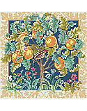 Tree of Life - PDF: A classic Medieval Cluny style interpretation on a partridge in a pear tree is so elegant you will want to display it all year long. Rich, bold colors, a wide gold tone border and black center background, makes the elements of this abundant tree pop out of the picture. A companion piece to our Unicorn.