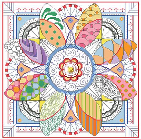 Kooler Design Studio Dazzling Doodles Mandala Chart