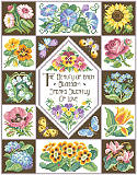 Nature's Wisdom Sampler - PDF: Stitch a garden of lovely blossoms with this springtime sampler.