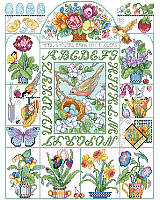 Spring is Here! Spring showers, seed packs, hummingbirds and more. Our design is full of colorful renditions that will remind you of spring.  This sweet sampler is an enchanting way to celebrate the seasonal blessings of spring and summer.