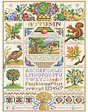 Autumn Harvest Sampler - PDF: Inspired by the hues of autumn's changing colors, this elegant sampler brings fall magic to any home.