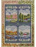 Four Seasons Counted Cross-Stitch: Watch the seasons change from a different perspective of the same scene.