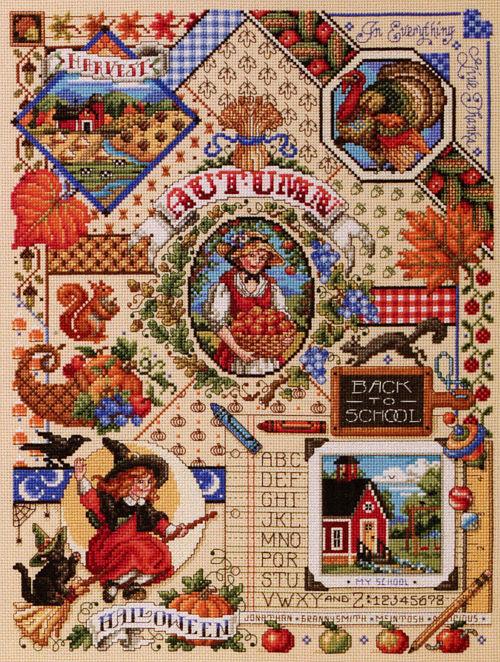 Kooler Design Studio Autumn Sampler Chart