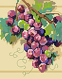Grapes On The Vine Big Stitch - Chart