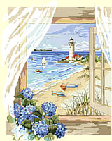 BEACH PARADISE; INSTANT GET-AWAY! Enjoy this cottage view overlooking a long, sandy stretch of beach. Find refuge to rejuvenate and relax. Feel the rustling winds, take long walks and smell the hydrangeas.