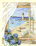 A View From the Window - PDF: BEACH PARADISE; INSTANT GET-AWAY! Enjoy this cottage view overlooking a long, sandy stretch of beach. Find refuge to rejuvenate and relax. Feel the rustling winds, take long walks and smell the hydrangeas.