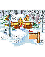 Enjoy the natural beauty of winter snuggled up by the fire in our Cabin In The Woods.