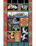 Oriental Sampler - PDF: Take a trip to the Orient! Enjoy this counted cross stitch design by Kooler Design studio and Nancy Rossi.